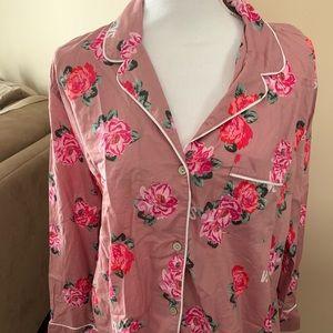 Victoria's Secret Floral Pajama Set medium